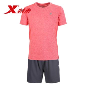 Beli Xtep nyaman musim panas lengan pendek celana pendek kebugaran pakaian 9086 oranye .