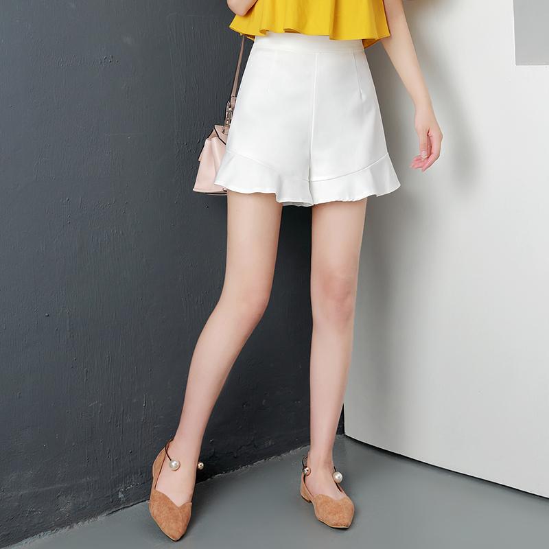 Yang chic Korea perempuan musim gugur dan musim dingin baru celana pendek ( Putih)