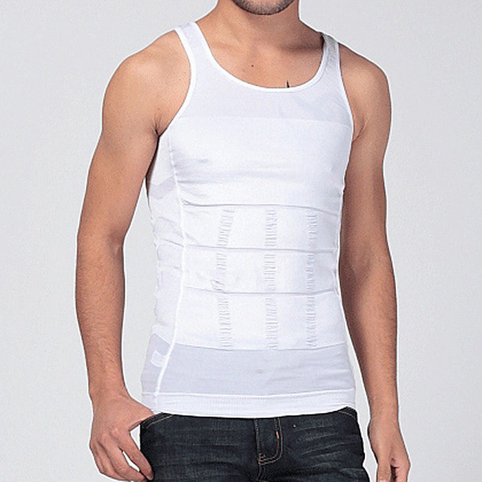 ... Yika pembentuk tubuh Korset Pelangsing Pria kemeja tanktop rompi (putih) - International ...
