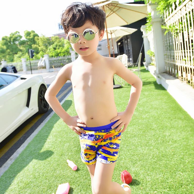Flash Sale Yinghui anak anak anak laki-laki kecil petinju celana berenang batang (Kuning)