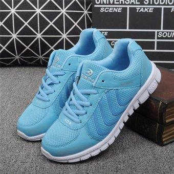 Pencarian Termurah YingWei Fashion Mesh Breathable Sport Shoes Net Cloth Light Casual Running Shoes Sneaker(Blue) - intl Harga Termurah