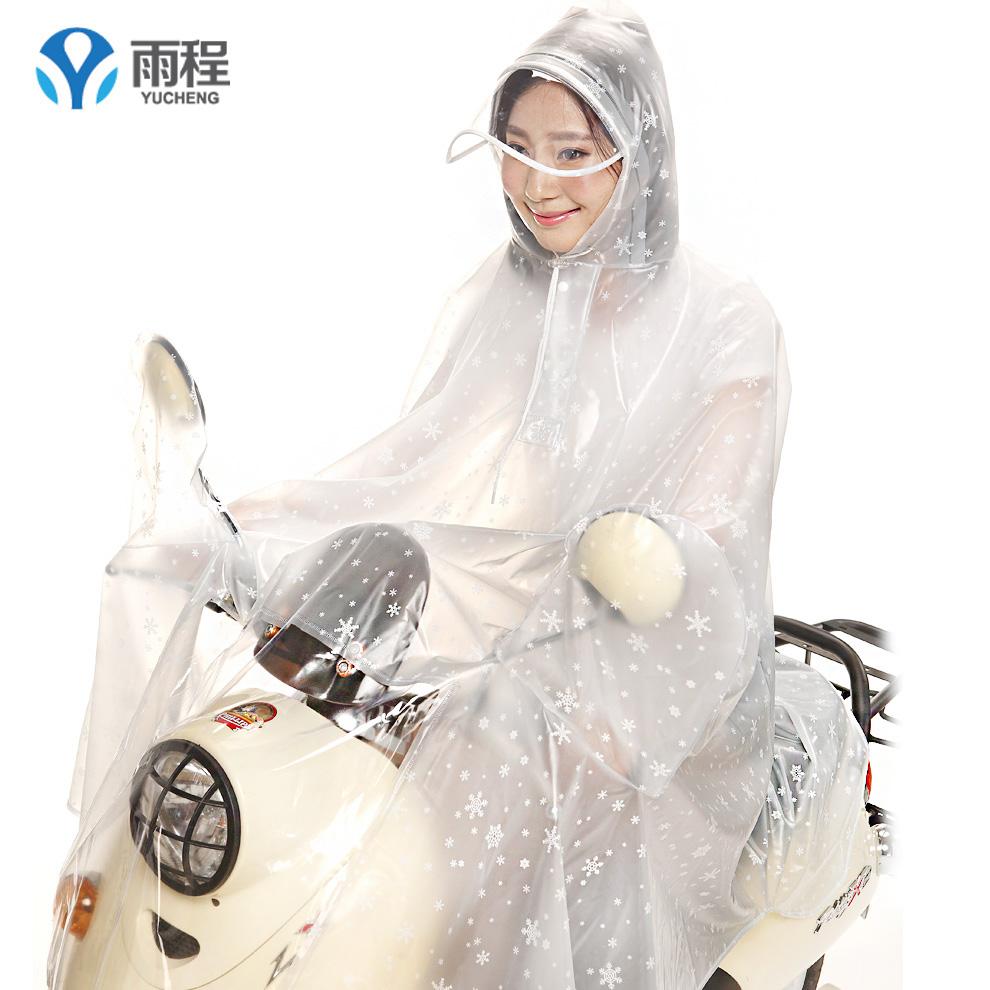Flash Sale Yucheng transparan Dewasa perempuan penuh besar ponco jas hujan (Tanpa lengan Ukuran Plus