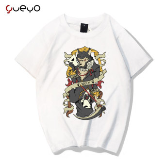 Gambar Yueyo angin lengan pendek pecinta t shirt (Manusia serigala putih)
