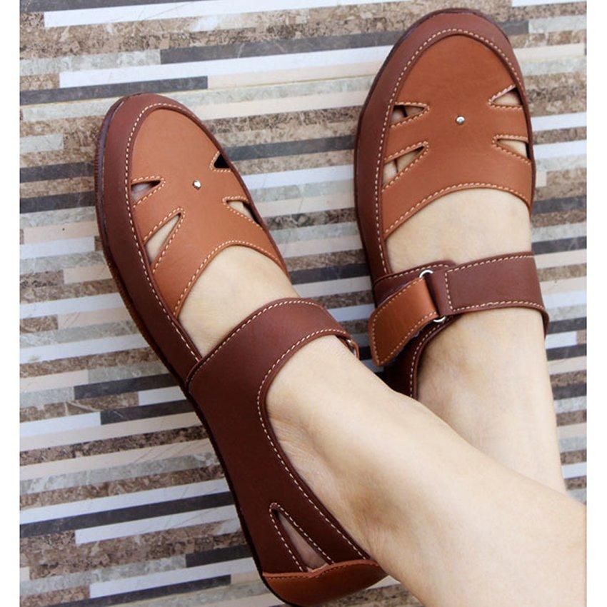 Yutaka Flat Shoes - Cokelat