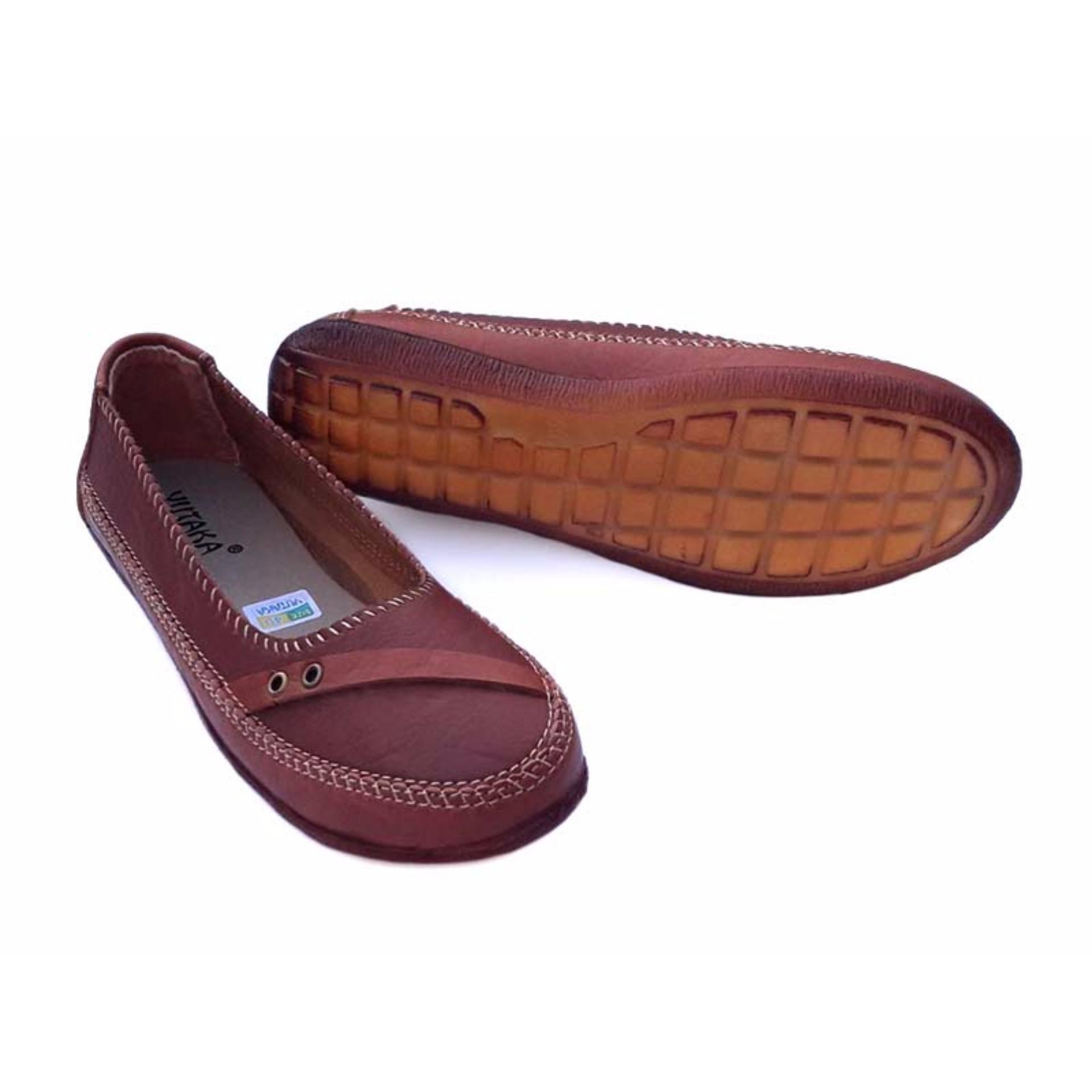 Yutaka flat shoes SK01 - Tan .