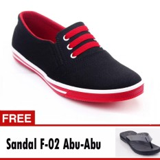 Yutaka Sepatu Kets Sneakers Abu-abu Orange Free Footage Sandal Pria F- 02 Abu