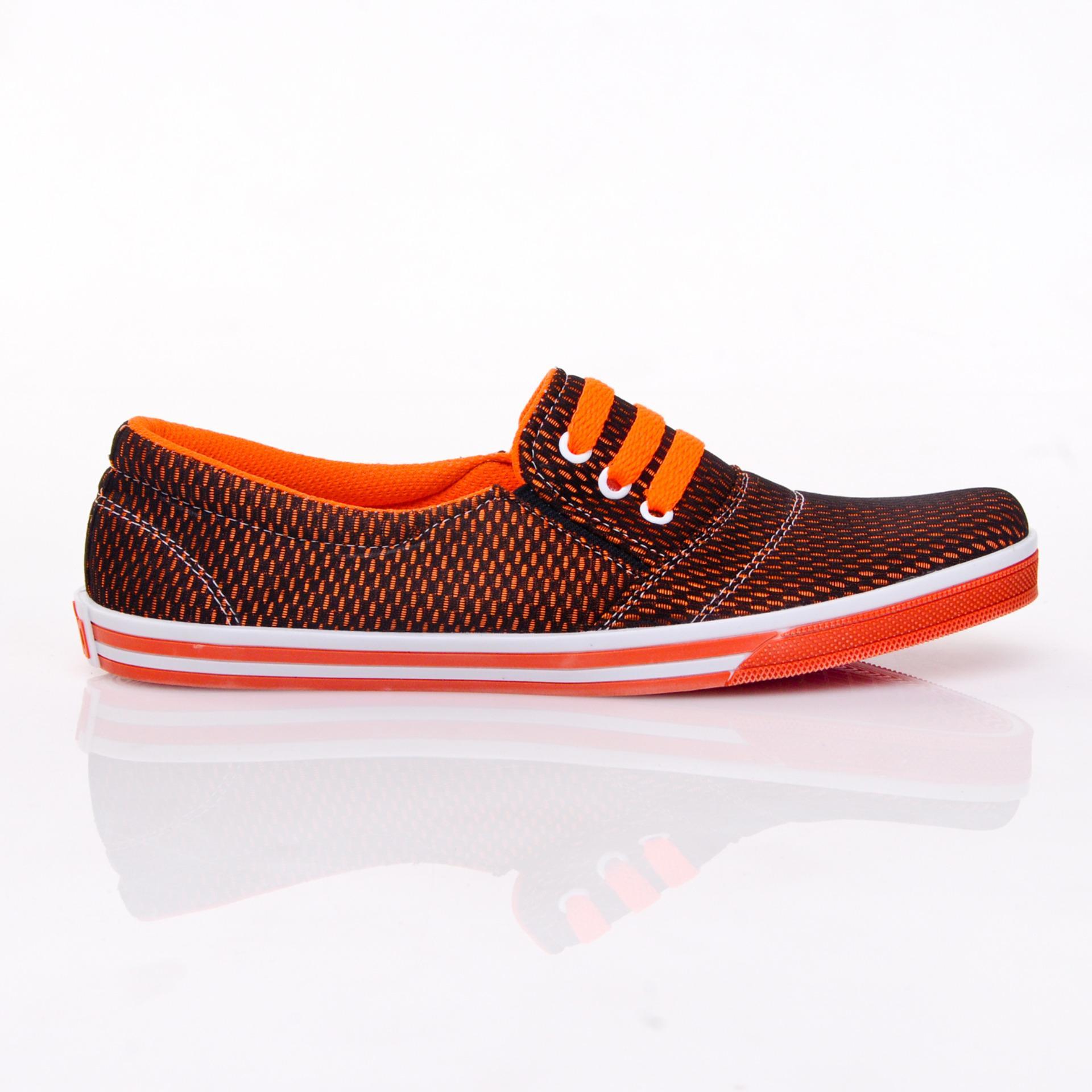 Yutaka Sepatu Kets Sneakers Orange ...