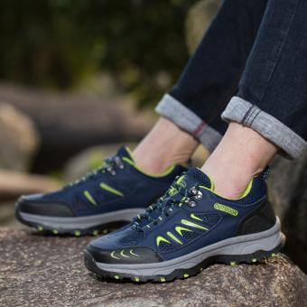 Galeri Gambar PATHFINDER Pria datar Kulit Sporty Velcro Slipper Sandal HikingSepatu (Brown) Lengkap.