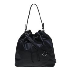 Zada Drawstring Shoulder Bag - Black