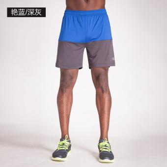Beli Zhayingren laki-laki musim panas cepat kering tipis celana pendek berjalan celana pendek (Brilian biru/abu-abu gelap) Terpercaya
