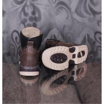ZimZam Amu Kalong Sepatu Boots Pria - Kulit Asli Brown - 2