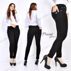 ZJeans - Celana Jeans Wanita – Skinny Stretch Jeans – Hitam Polos
