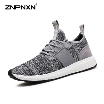 ZNPNXN Men'S Shoes Breathable Comfort Tide Shoes Coconut Shoes Men'S Shoes Fashion Casual Sports Shoes Mens Shoes Size 39-44 Yards (Grey) - intl