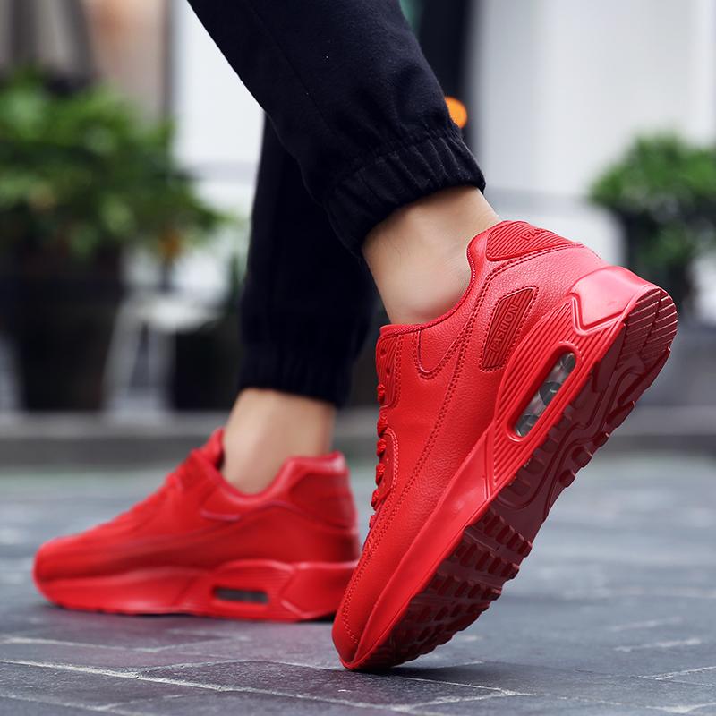 ZOQI Fashion Pria Sepatu Kets Olahraga Musim Panas Kasual Yang Nyaman Untuk Bernapas  Sepatu-Merah ... 1fd357ebc8