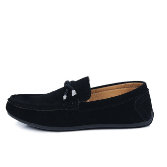 ZOQI man's Slip-Ons&Loafers fashion cow suede leather Shoes(Black) - intl - 2