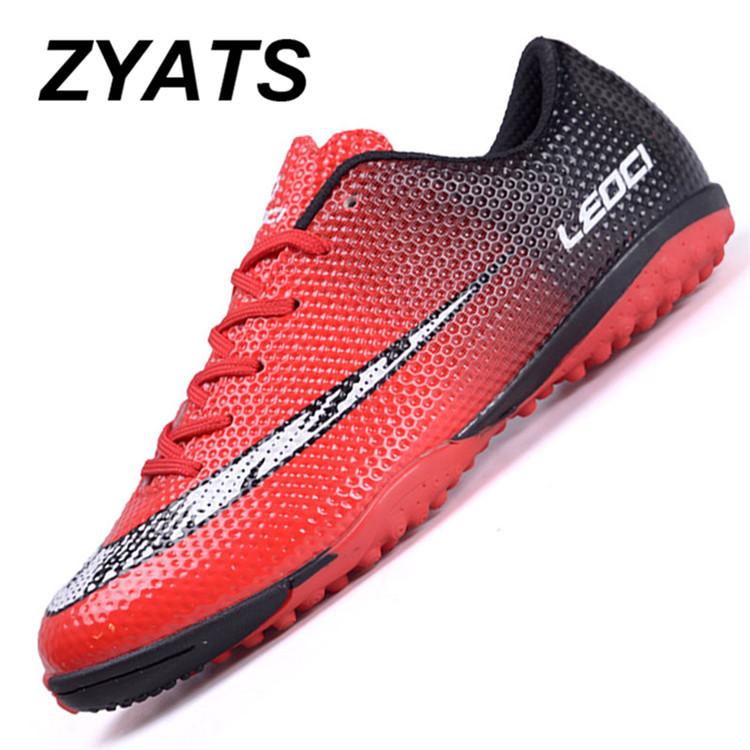 ZYATS 2017 Baru Sepatu Sepakbola Pria LACE UP TF Pria Pelatih Profesional  Futsal Sepatu Outdoor Boys cbc053aaeb