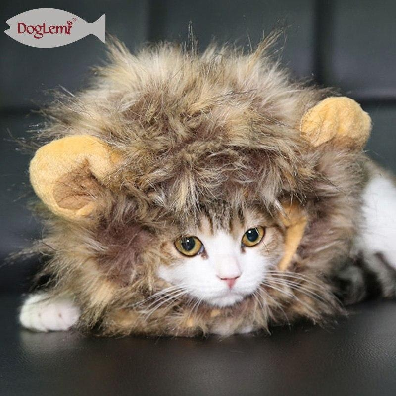 1 Pc Pet Supply Cat Kitten Puppy Lion Mane Wig Hat With Ear Halloween Costume - intl