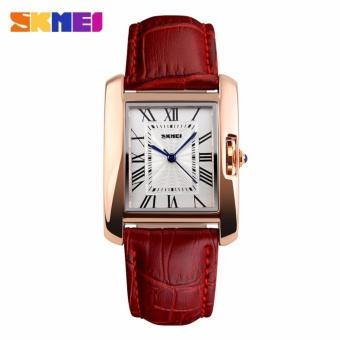 [100% Asli] Jam tangan Mewah Retro Casual Anti air Fashion Dress SKMEI untuk Wanita - 2