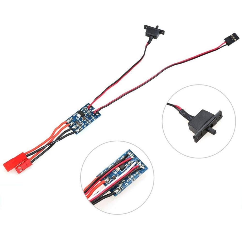 10A Brushed ESC Motor Speed Controller For RC Car Boat Tank withoutBrake - intl .