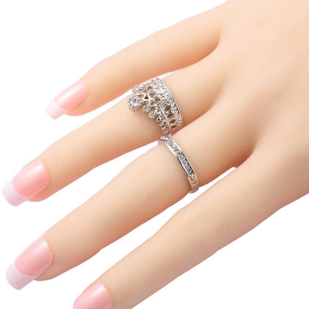 2 buah desain wanita sekitar mahkota berlian imitasi menghiasi--TC ...