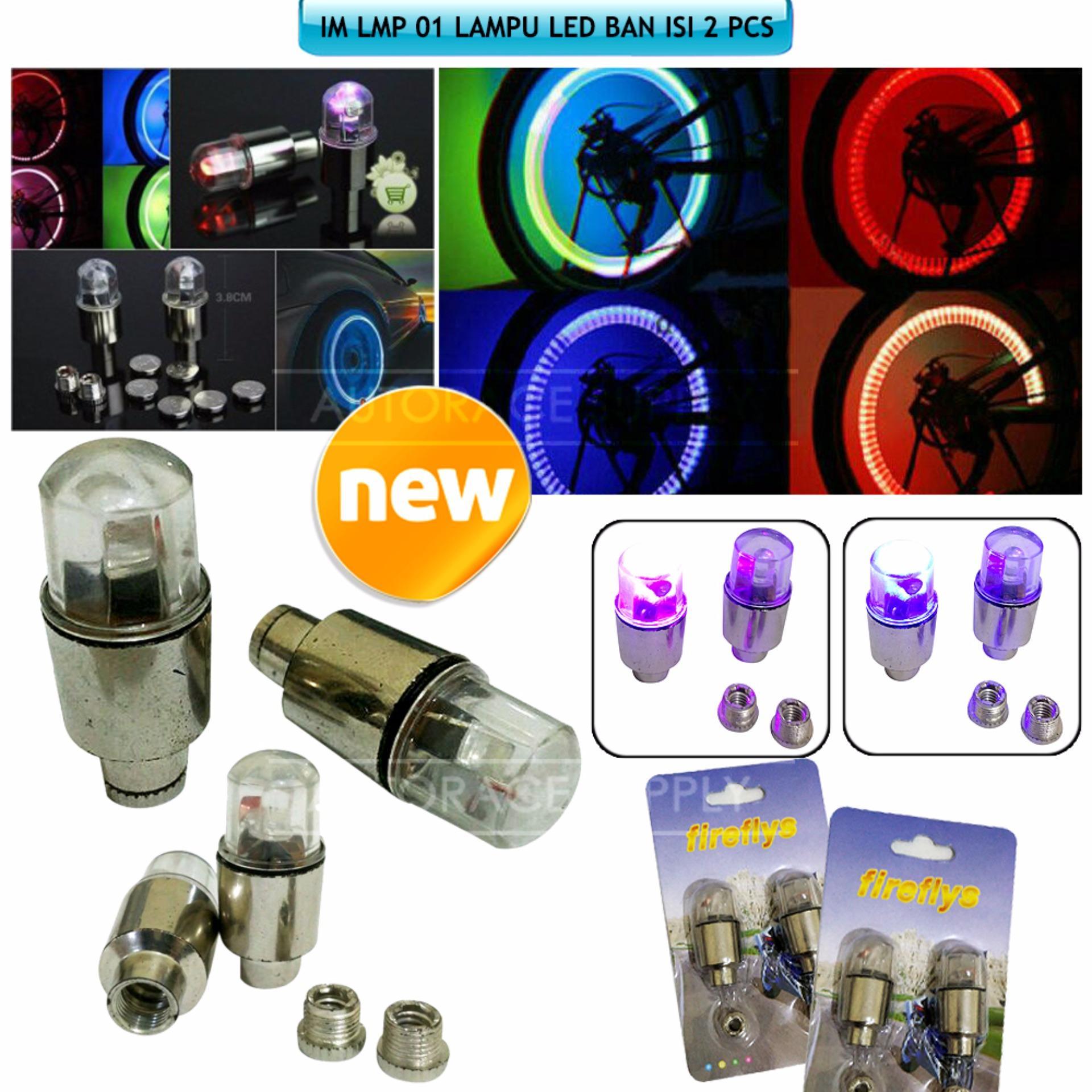 2 pcs Lampu LED Ban / Lampu Dekorasi velg LMP-01 - Rainbow