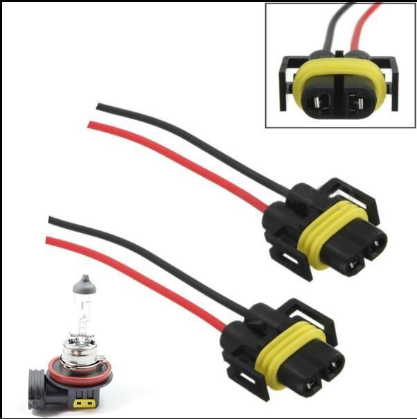 2017 1 pasang H11 H8 mobil LED Light adaptor tali soket kawat Konektor Kabel