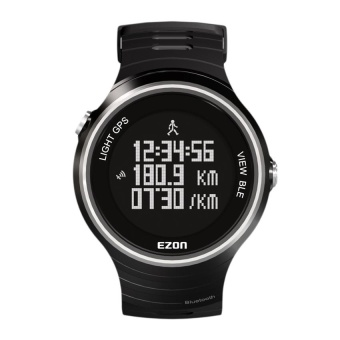 2017 EZON G1 jogging GPS running watch bluetooth 4.0 5ATM waterproof smart digital watch (Black) - intl
