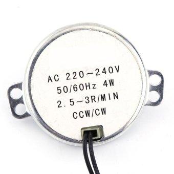 harga 220-240 V AC Synchronous Rotary Motor diarahkan Motor 4 W CW / CCW 2,5-3 RPM Lazada.co.id