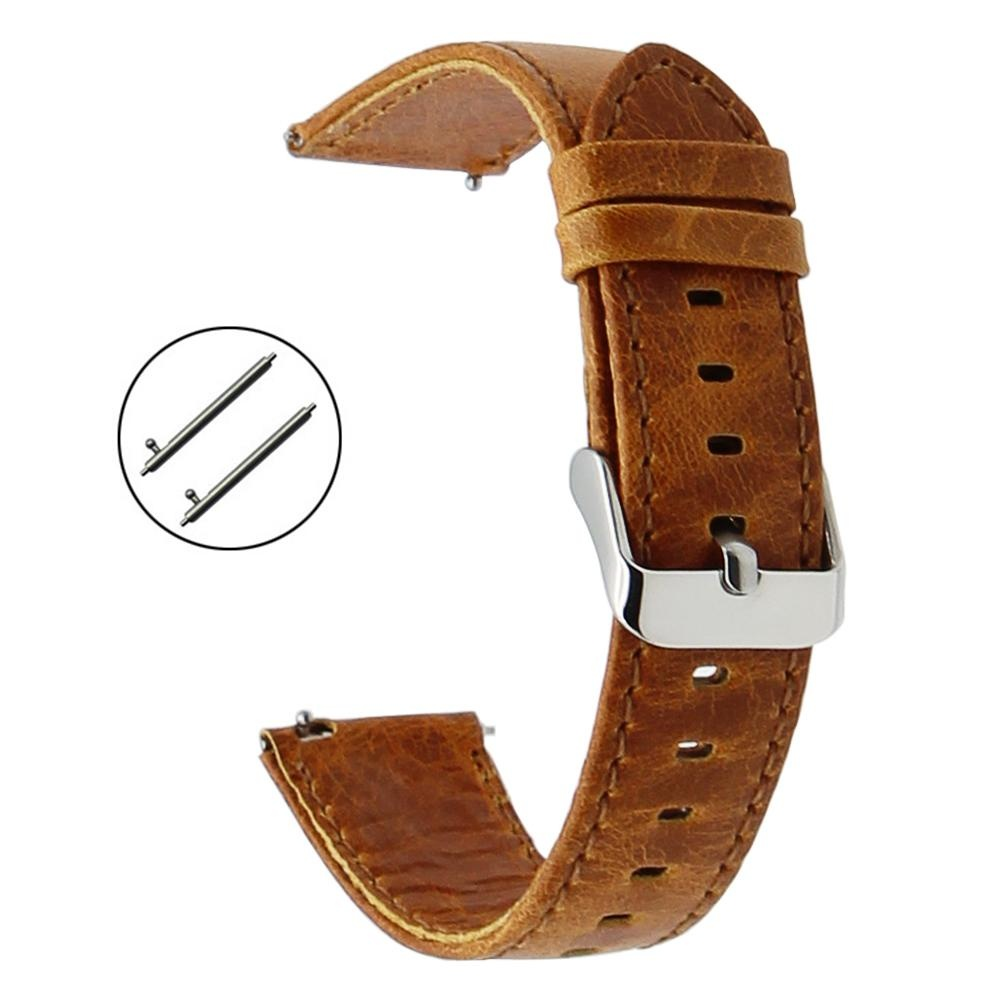 Terbaik Murah 22mm Genuine Leather Watch Band Strap For Samsung Gear Garmin Fenix Jam Tangan Pria Sporty S3 Classicfrontier Chronos Wrist Bracelet