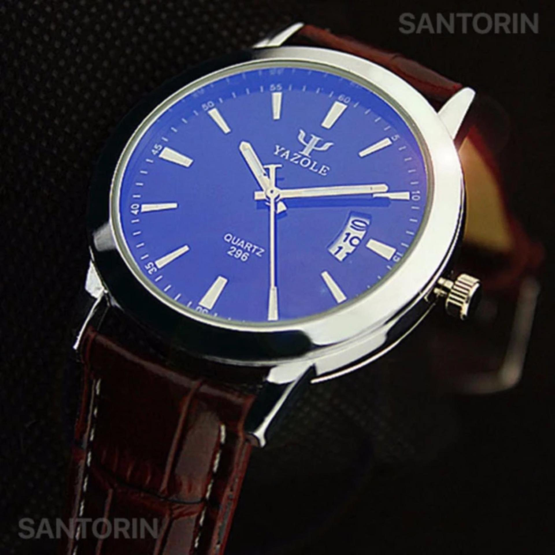 ... 296 Kualitas Merek Watch Pria Watches Male Clock Leather Strap Quartz Watch Pergelangan Tangan Kalender Tanggal ...