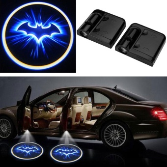 2pcs LED Car Door Welcome Projector Batman Pattern Courtesy Ghost Shadow Light - intl