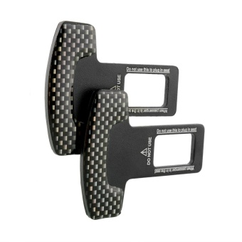 2pcs Truck Atv Carbon Fiber Safty Seat Belt Buckle Stopper Alarm Canceler Black - intl - 5