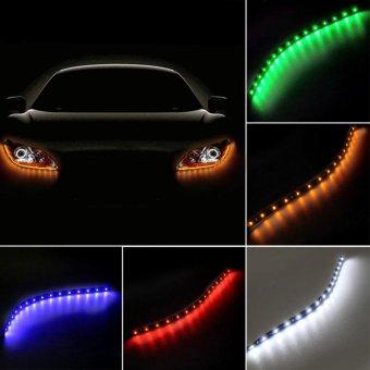30cm Waterproof Auto Car Vehicle Flexible LED Strip Light Lamp Decor Pink - intl