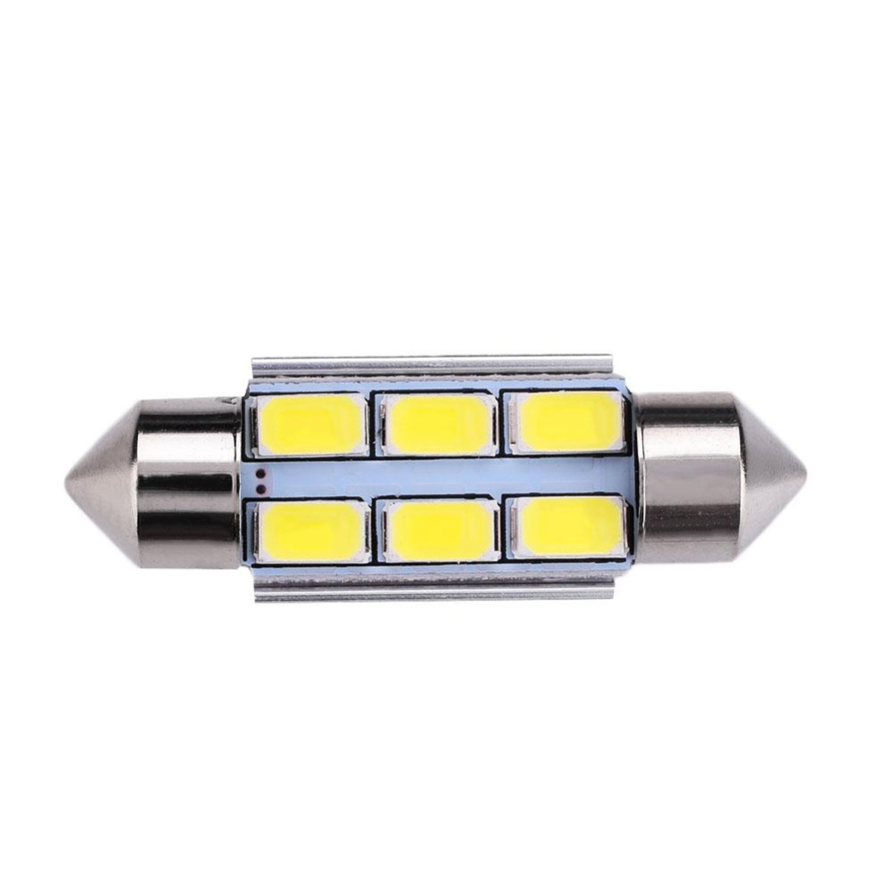 31/36/39/41mm 3W 6 SMD LED Beads Car License Plate Trunk Light Universal - intl