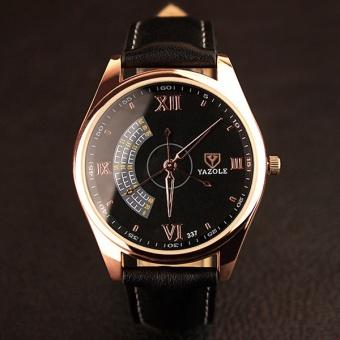 337yazole Three Seconds Hand Fashion Casual Men's Quartz Watch with A Watch Men's Models?black? - intl