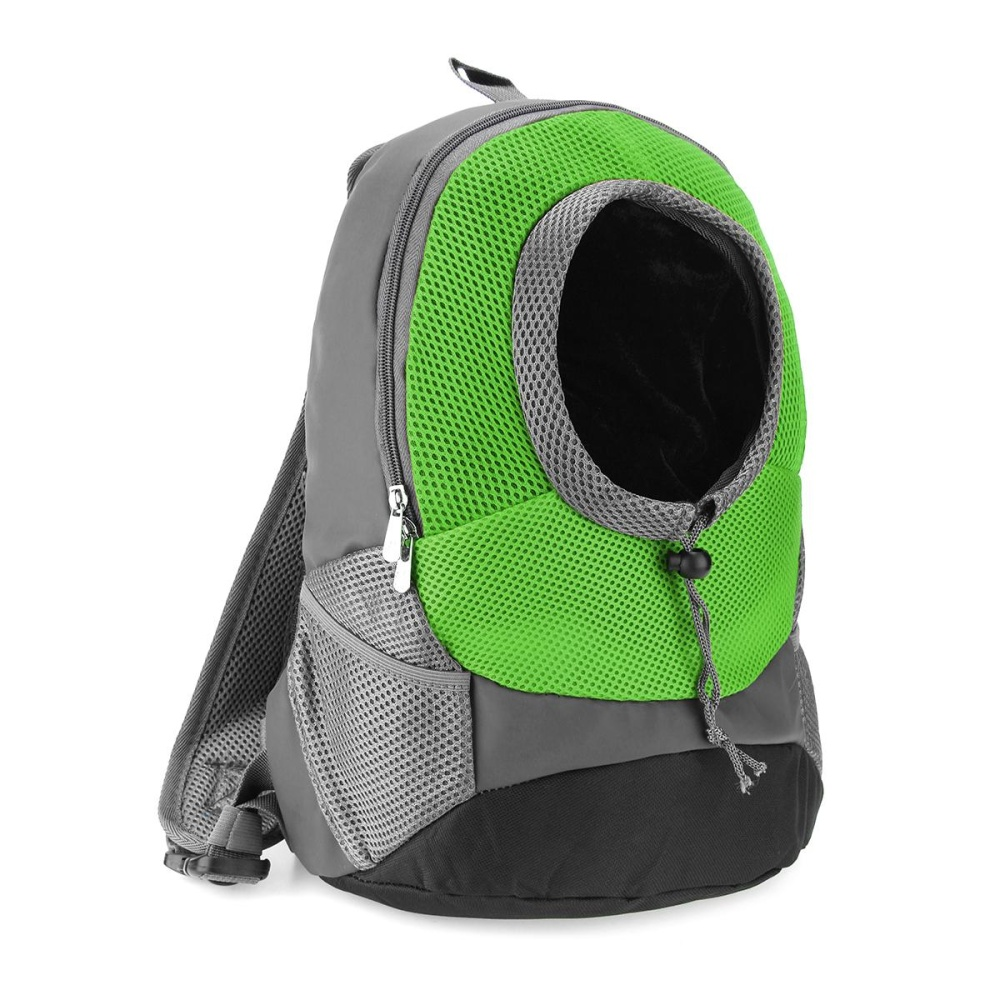 35*30*14 cm Portable Pet Dog Cat Puppy Head Out Carrier ComfortTravel Backpack Green - intl