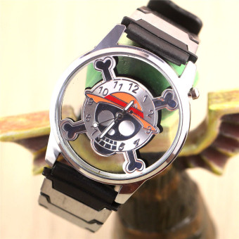 'Anime Boys'' One Piece Skeleton Hollow Watches(Color:as Pic) - intl'