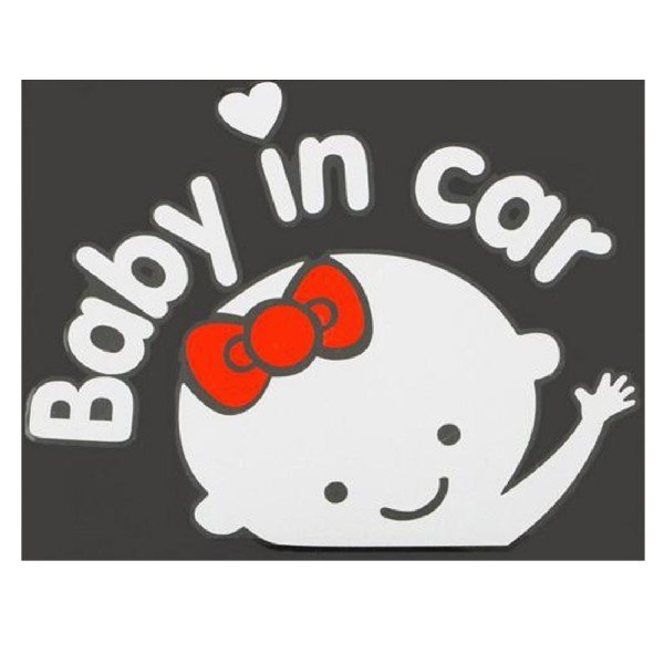 Online Murah 3d Mobil Kartun Stiker Vinil Reflektif Style Bayi Di