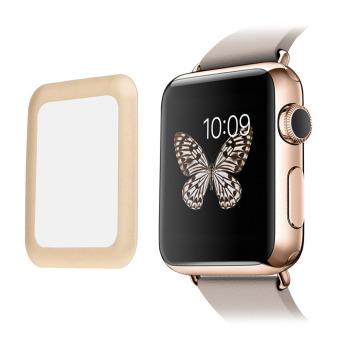 42 mm kaca tempered Pelindung Layar liputan lengkap untuk Apple Watch Keemasan