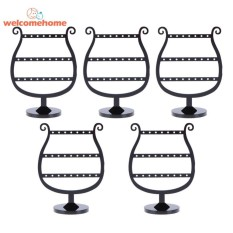 5pcs Jewelry Organizer Woman Black Holder Fashion Earrings Display Rack - intl