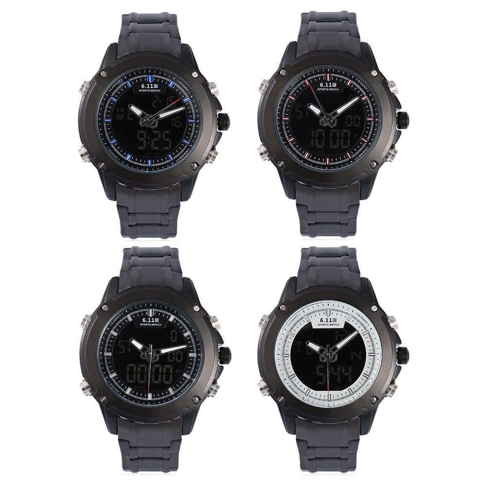 SKMEI Dual Time Men Sport LED Watch Anti Air Water Resistant WR 50m . Source ·