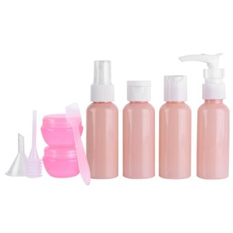 9pcs Portable Reusable Empty Makeup Spray Bottle /Shampoo LotionCream Container Set Kit - intl