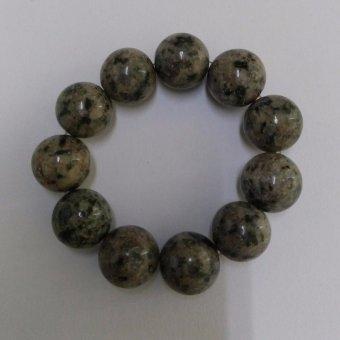 A-KHA Gelang Vitalitas Black Jade 10mm, 100% Batu Alam, LengketMagnet
