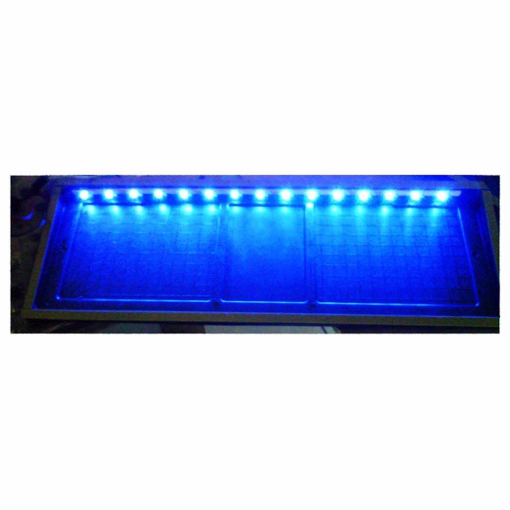 Absolute Tatakan Plat Nomor Mobil Acrylic + LED Biru