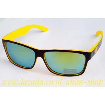 Gambar Ahim Shop UV400 Kacamata Fashion Sports Stylish Pria Wanita  Sunglasses Dragon AL214 2 (Yellow f43dff598f
