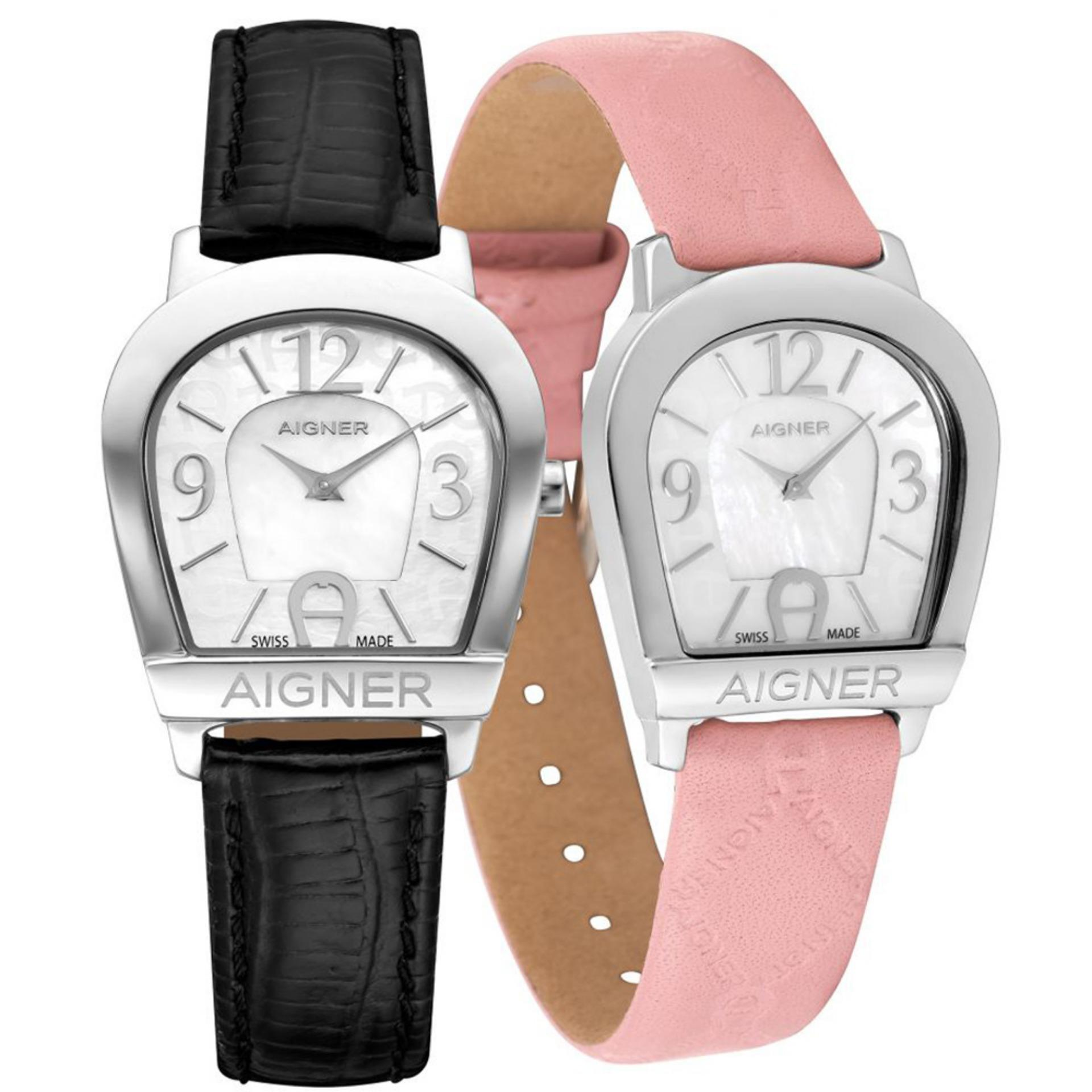 Aigner A40239 Messina Jam Tangan Wanita Leather Red Gold Daftar A24204a Chieti Biru Silver A32268b Amalfi Ii Black