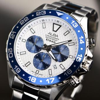 Alba Active Chronograph Jam Tangan Pria - Tali Stainless Steel - AT3909X1 - 4