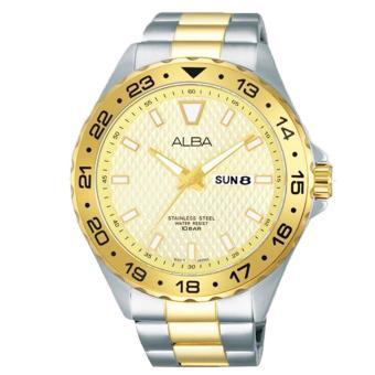 Alba Analog Jam Tangan Pria - Strap Stainless Stell - Gold - AV3502X1