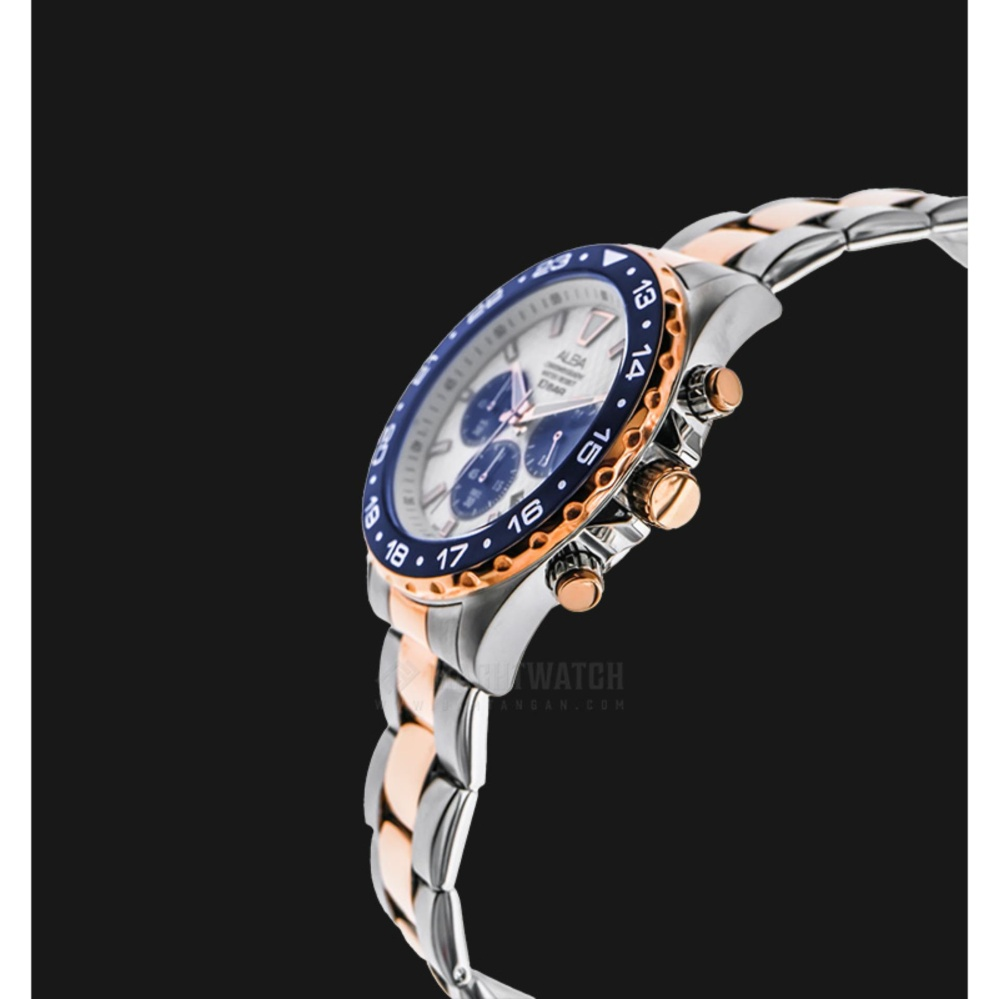 Aigner Bologna Jam Tangan Wanita All Stainless Steel Build Up A49310 Imperia Silver Gold Source Alba