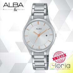 Alba Fashion Jam Tangan Wanita - Tali Stainless Steel - Silver - AH7L15X1